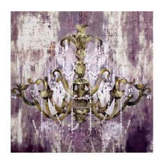 Chandelier Embellished Canvas