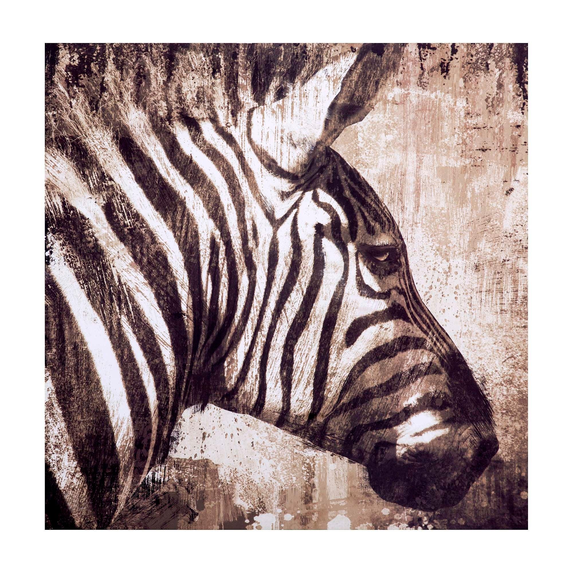 Zebra Printed Canvas
