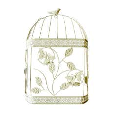 Bird Cage Hanging Metal Art
