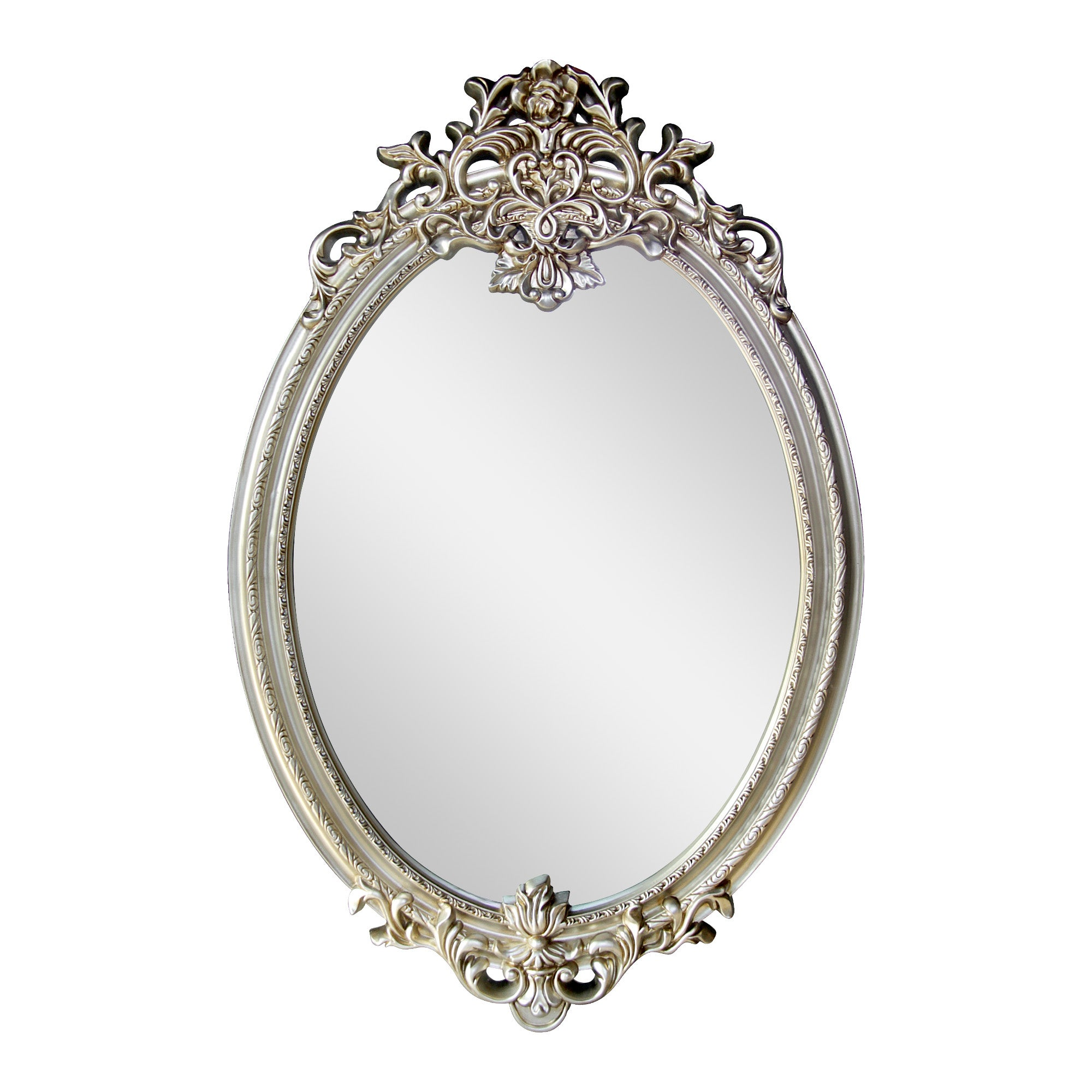 Champagne Oval Ornate Mirror Champagne