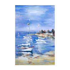 Sailing Boats Hand Painted Canvas
