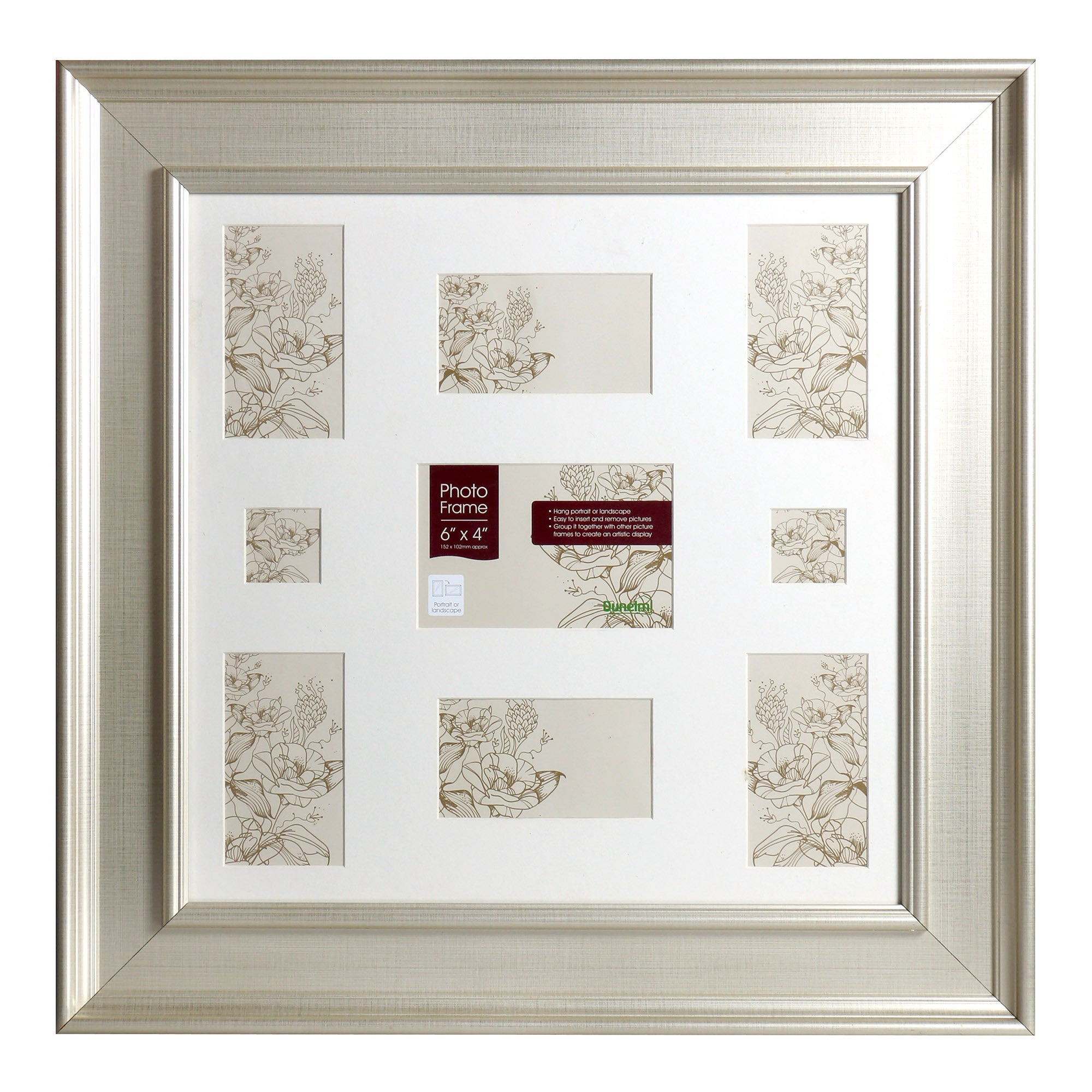 Wide Edged 9 Photo Frame