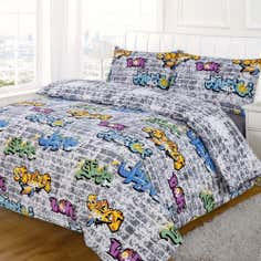 Kids Graffiti Collection Duvet Cover Set