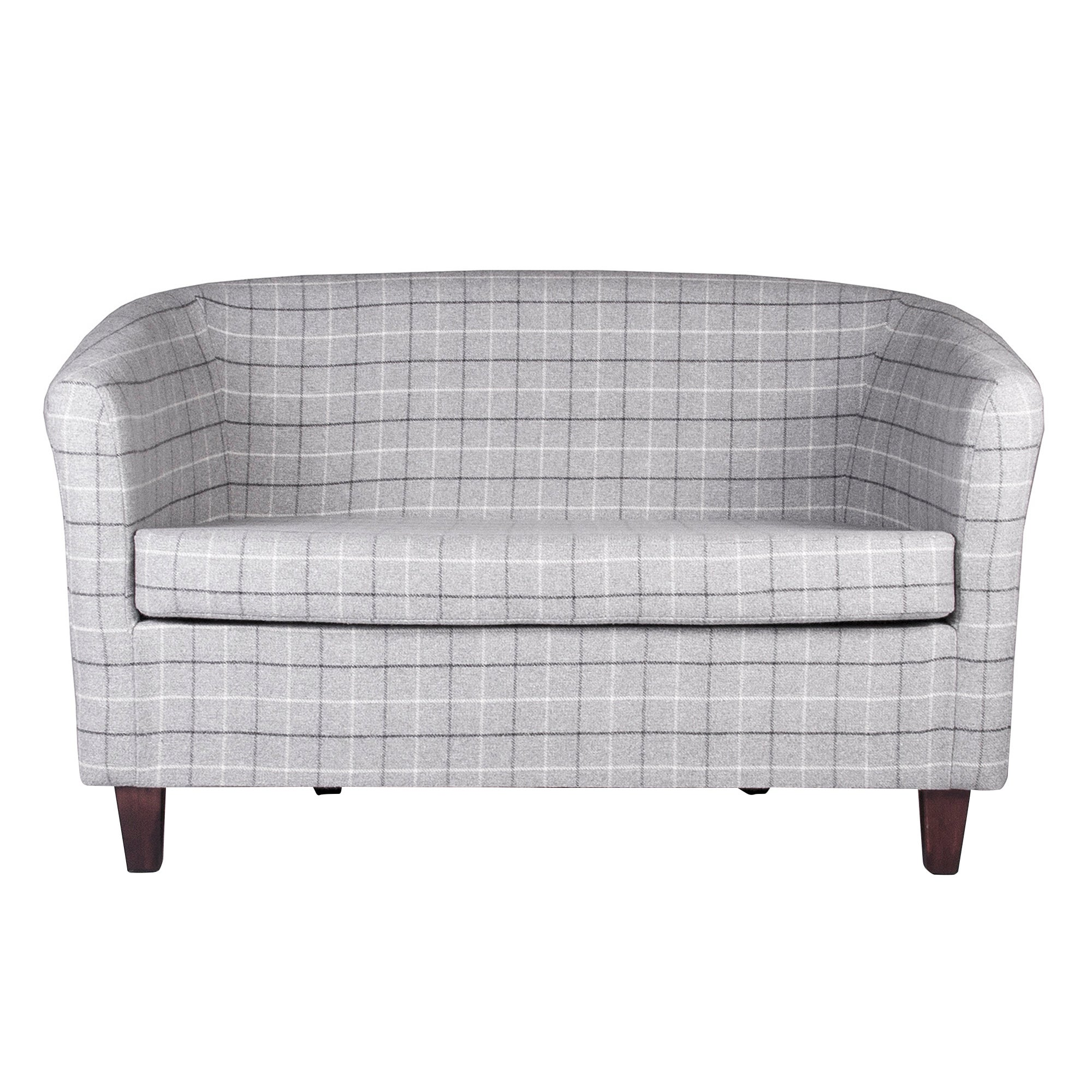 Bamburgh Check Two Seater Tub Chair
