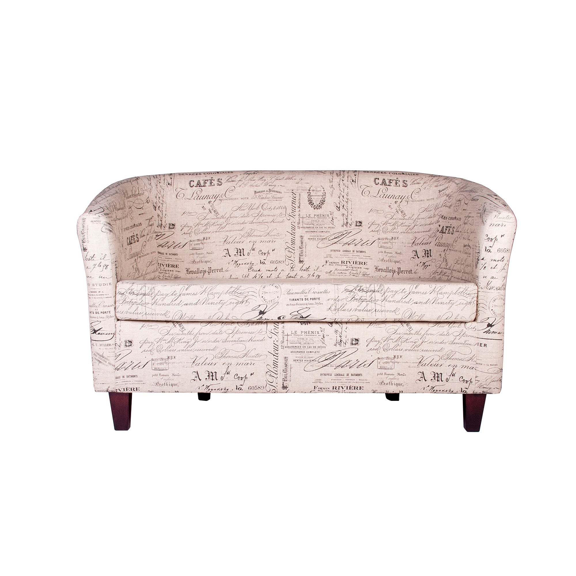 Madelaine Script Two Seater Tub Chair