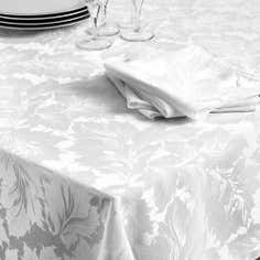 Turin Collection White Tablecloth