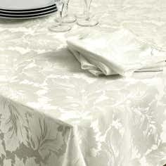 Turin Collection White Round Tablecloth