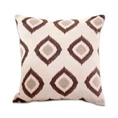 Chocolate Chenille Diamonds Cushion