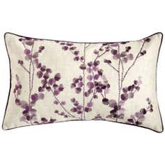 Plum Woodland Sprig Cushion