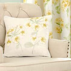 Ochre Primrose Collection Square Cushion