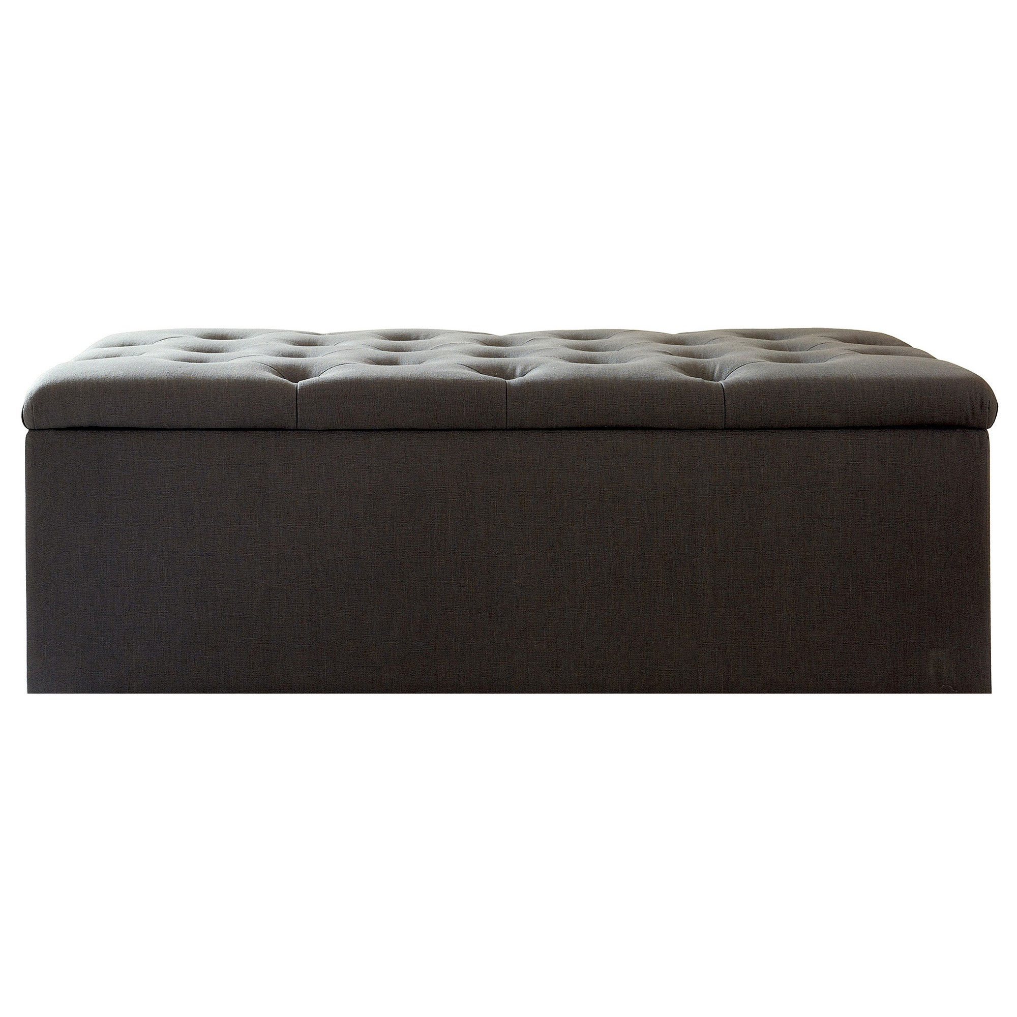 Antoinette Charcoal Small Bed Ottoman
