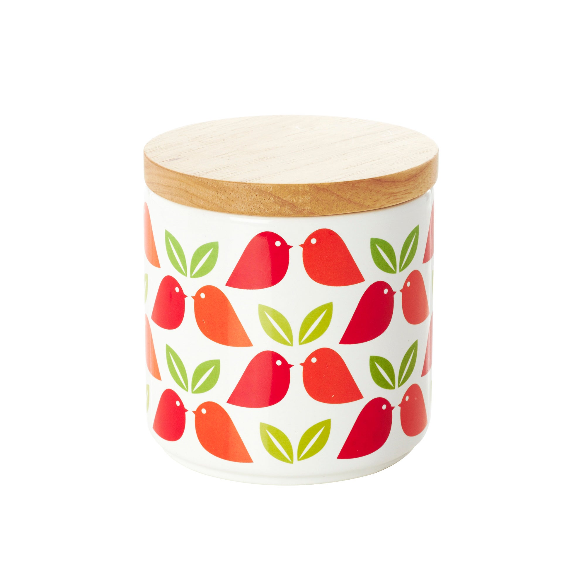 Funky Birds Collection Leaf and Birds Storage Canister