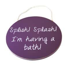 Splish Splash Wooden Sign