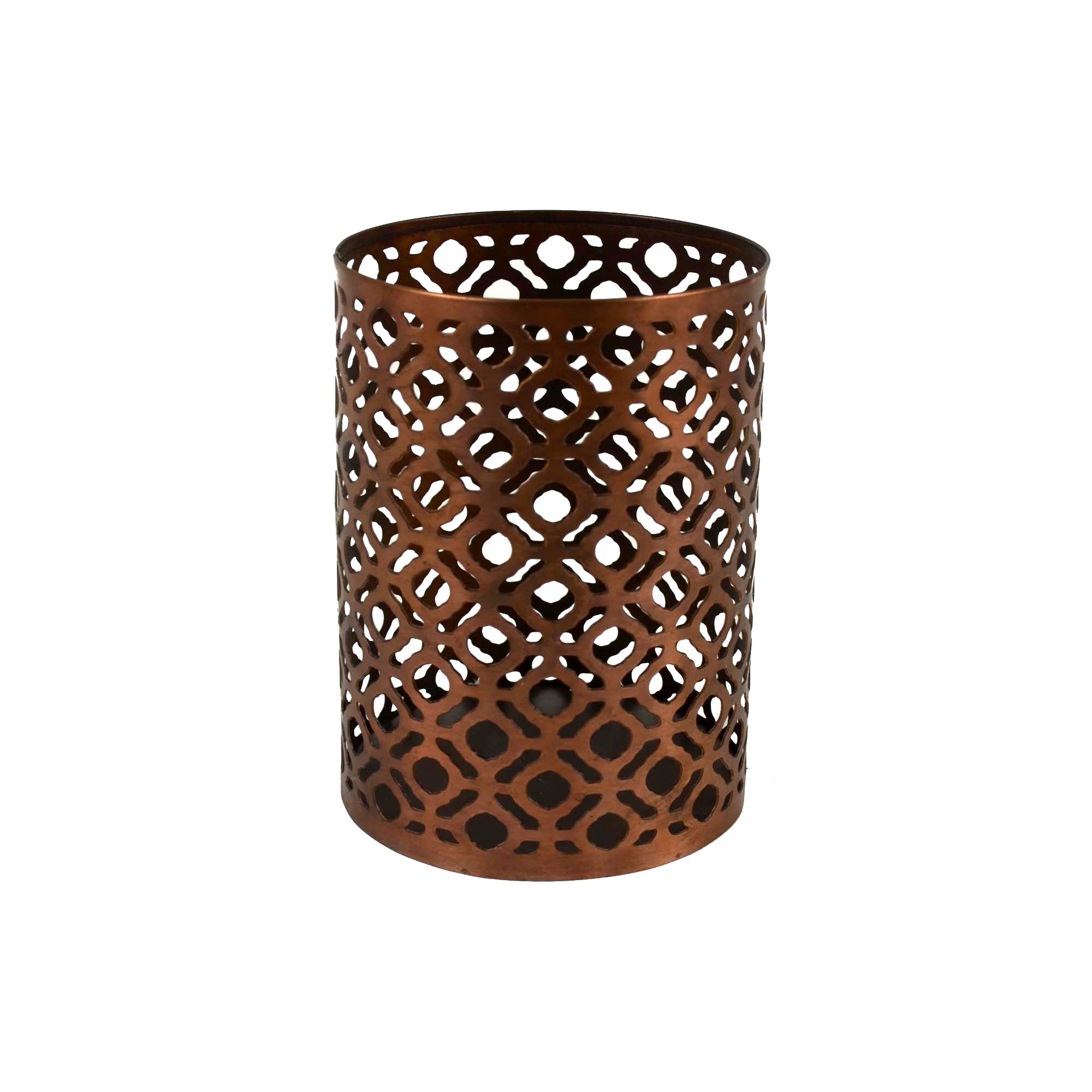 Copper Cut Out Lantern