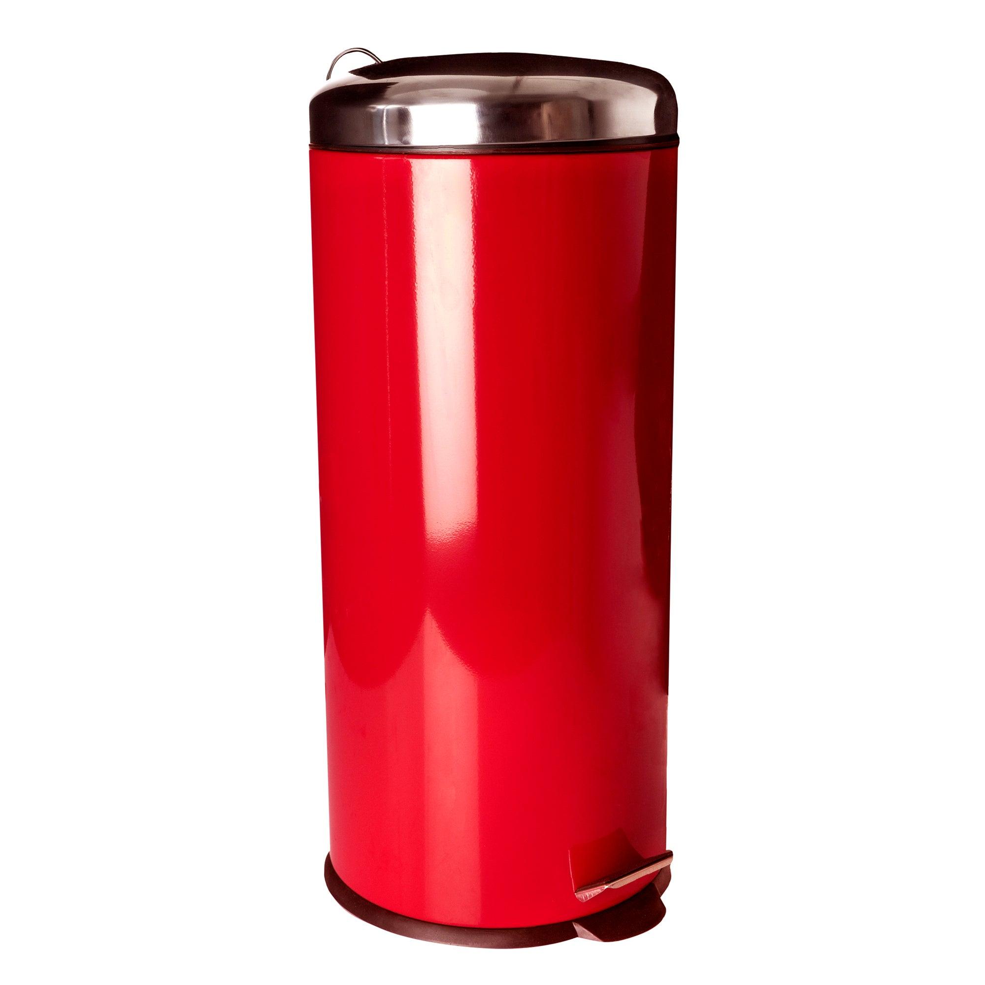 Red 30L Pedal Bin
