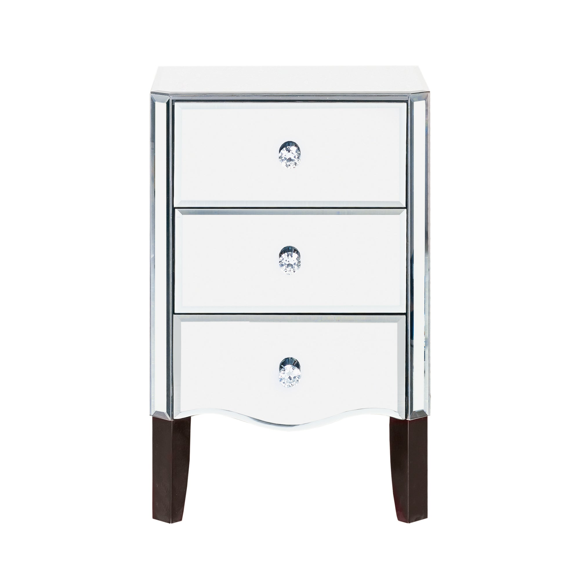 Viola Mirrored 3 Drawer Bedside Chest