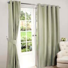 Green Nova Blackout Eyelet Curtains