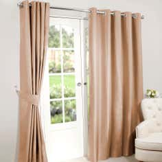 Antique Gold Nova Blackout Eyelet Curtains