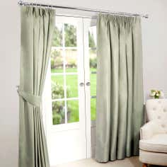 Green Nova Blackout Pencil Pleat Curtains