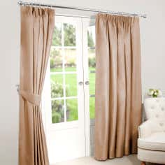 Antique Gold Nova Blackout Pencil Pleat Curtains