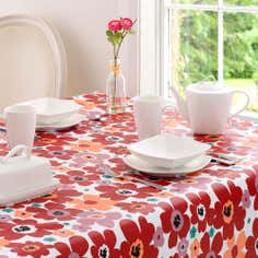 Aster Collection Round Floral PVC Tablecloth