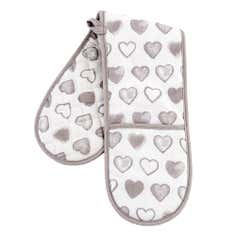 Taupe Country Heart Collection Double Oven Glove
