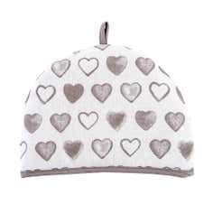 Taupe Country Heart Tea Cosy