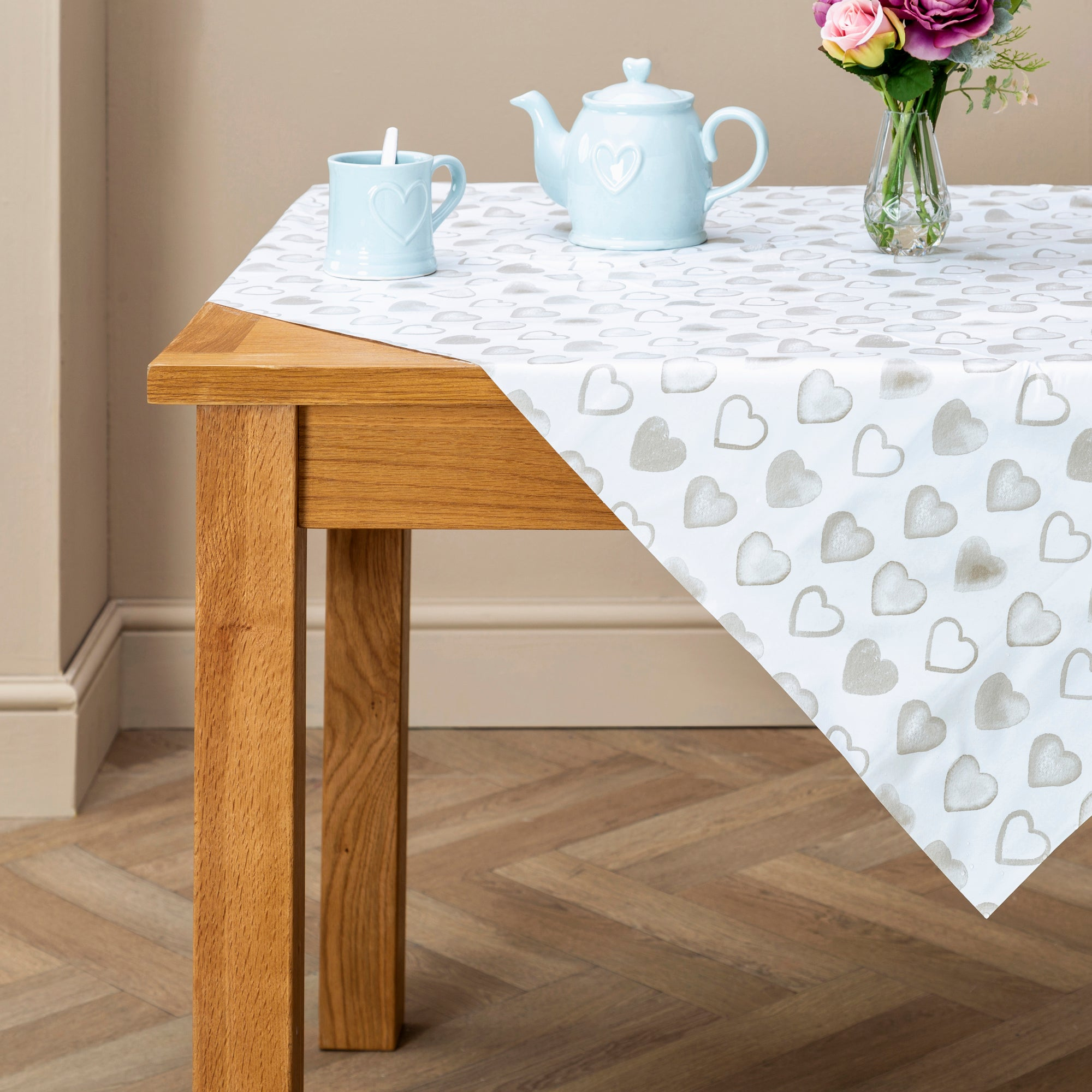 Country Heart Collection PVC Tablecloth