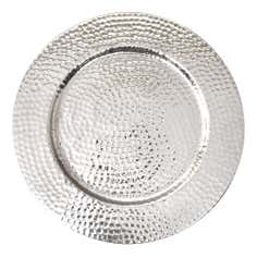 Hammmered Metal Silver Tray