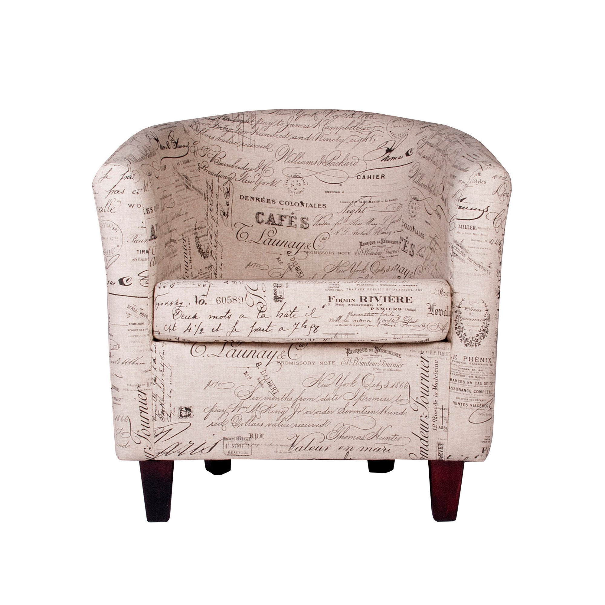 Madelaine Script Tub Chair