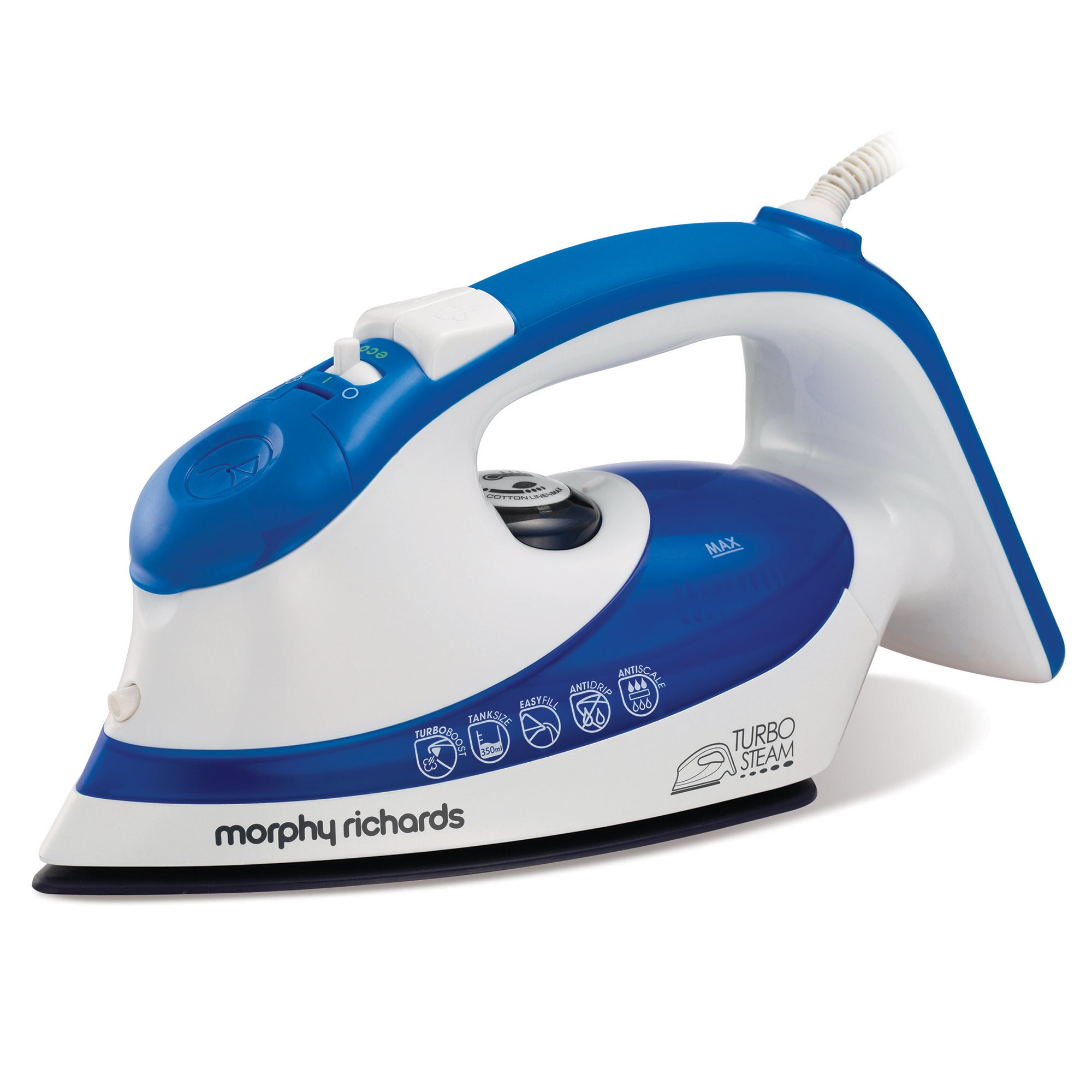Morphy Richards 300603 Blue Ionic Turbosteam Iron