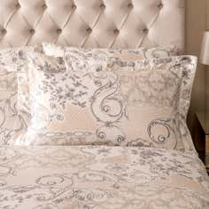 Dorma Taupe Valentina Collection Oxford Pillowcase