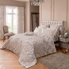 Dorma Taupe Valentina Collection Bedspread