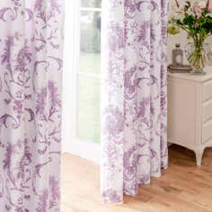 Dorma Heather Toile Lined Pencil Pleat Curtains
