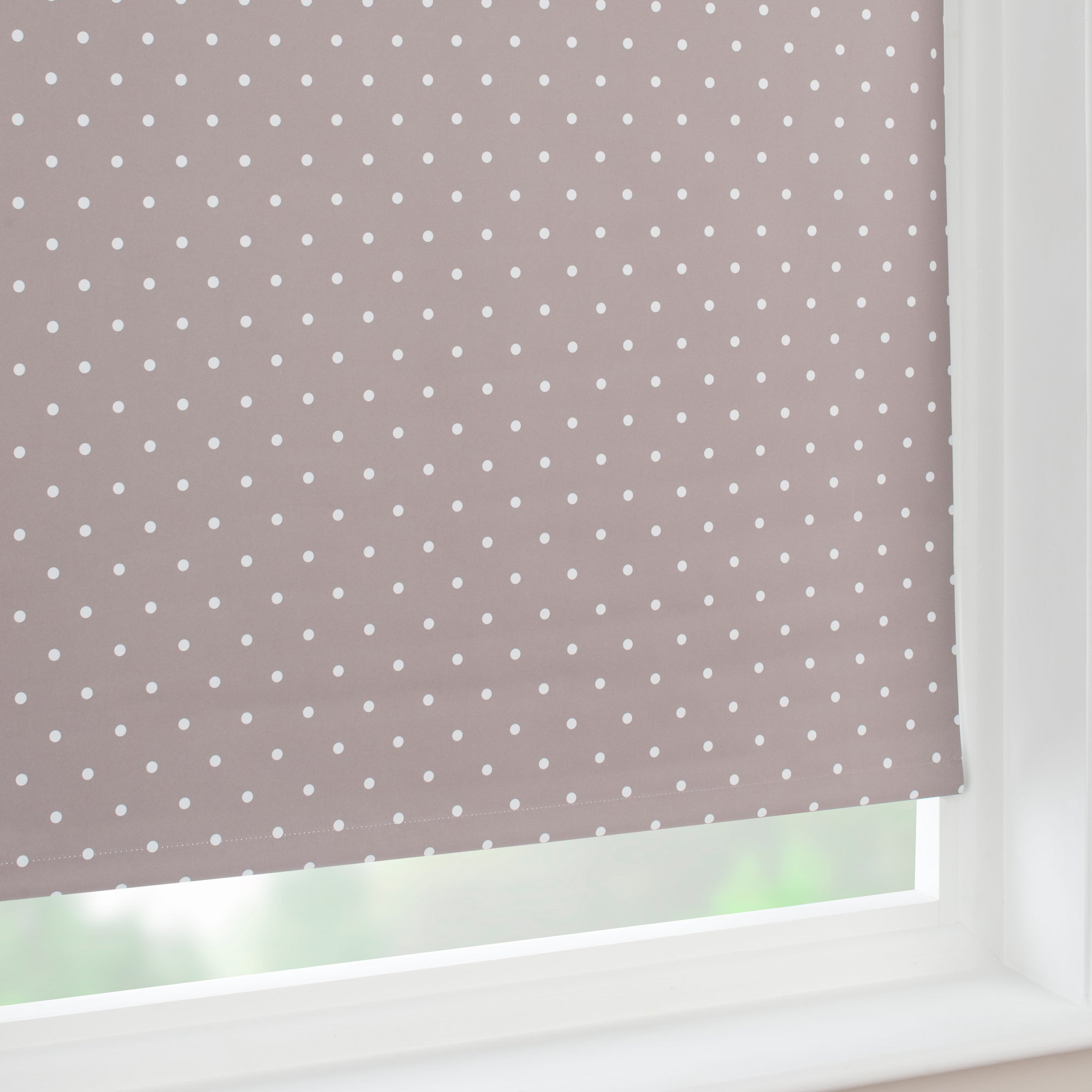 Taupe Dotty Blackout Roller Blind