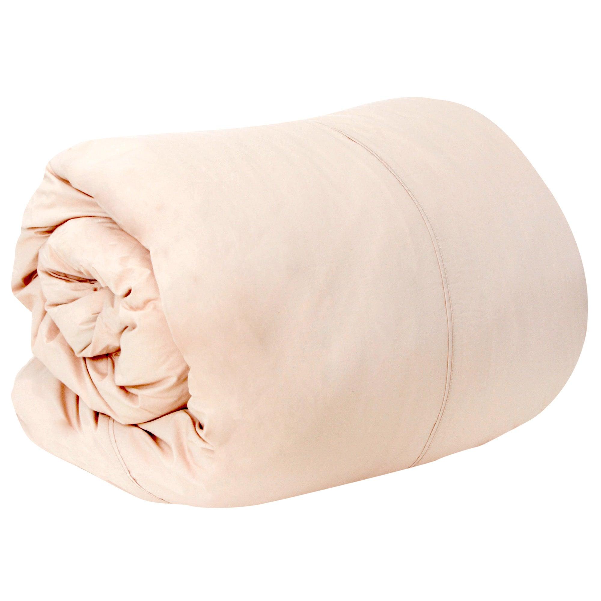 Dorma 300 Thread Count Blush Pink Plain Dye Collection Duvet Cover