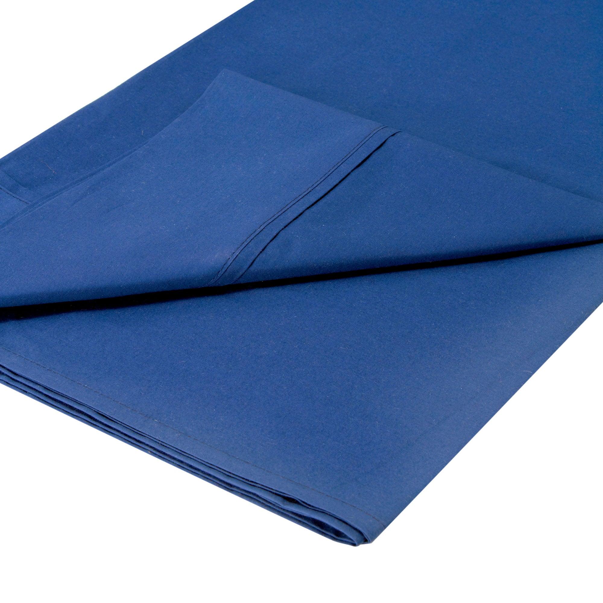 Dorma 300 Thread Count Navy Plain Dye Collection Flat Sheet