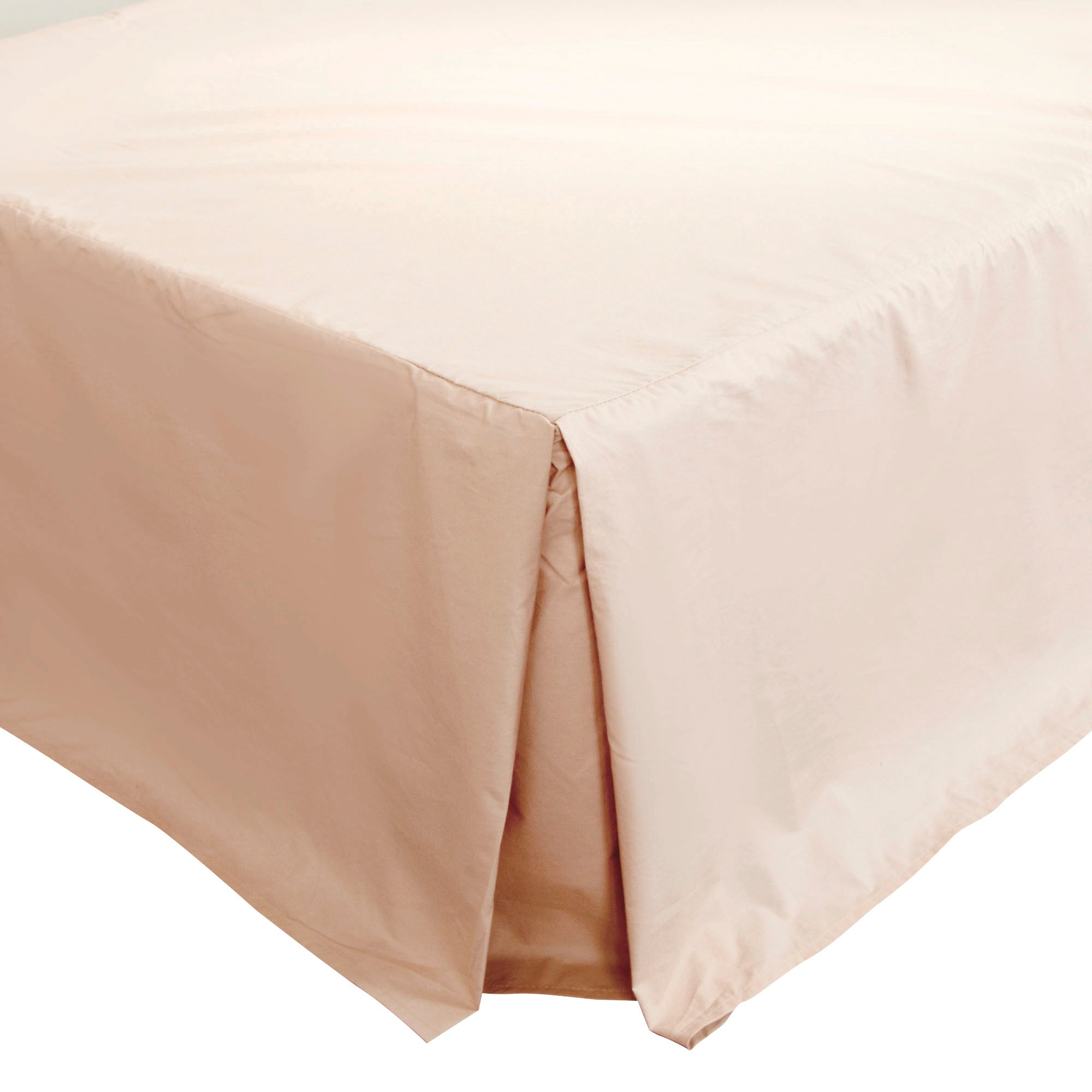 Dorma 300 Thread Count Blush Pink Plain Dye Collection Pleated Divan Trim