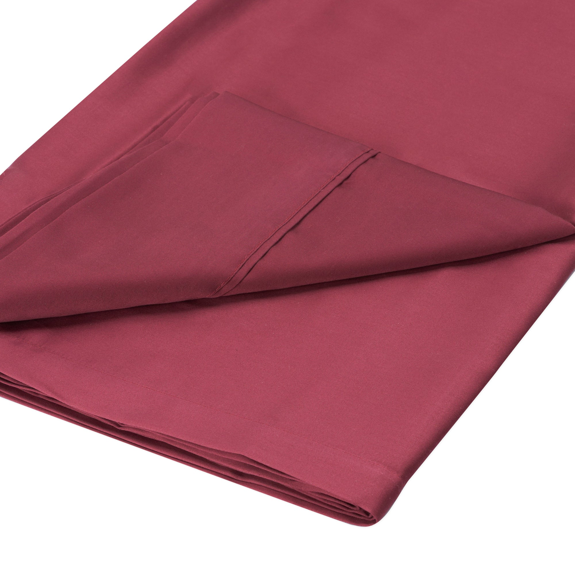 Dorma 350 Thread Count Red Plain Dye Collection Flat Sheet