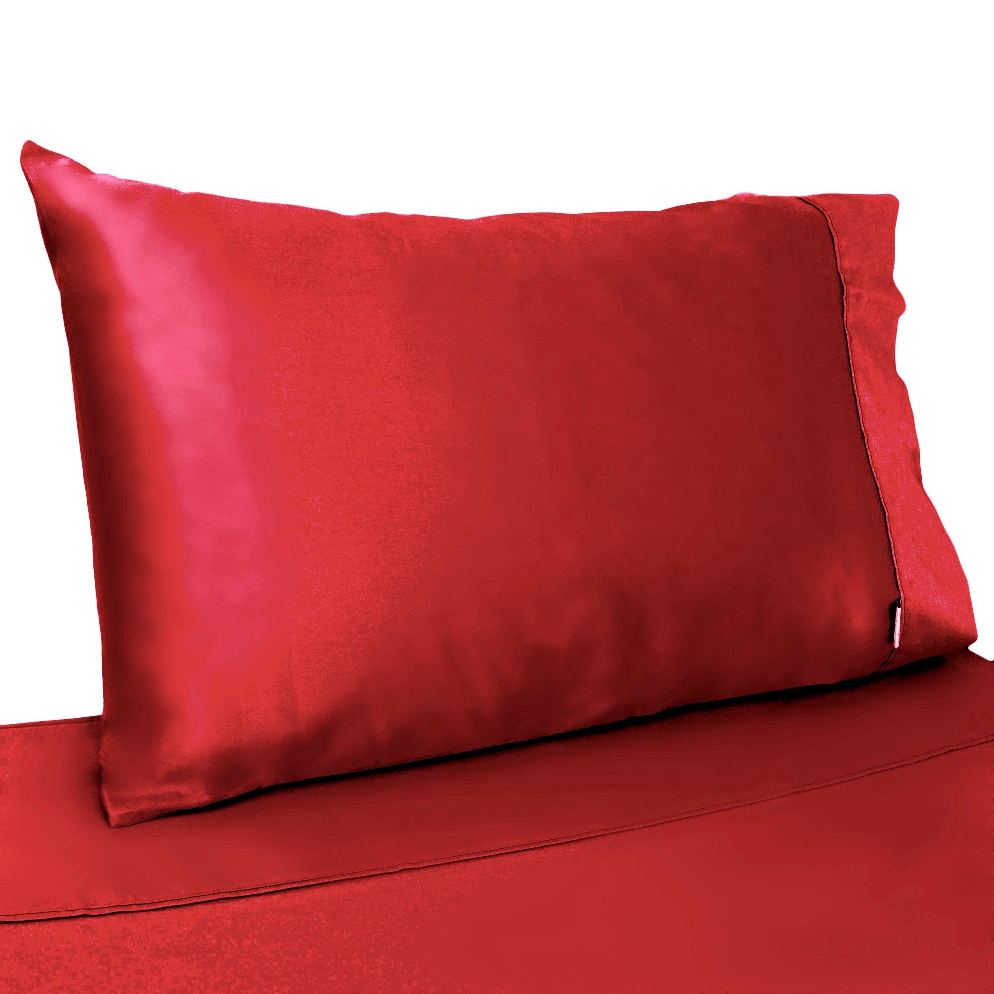Dorma 350 Thread Count Red Plain Dye Collection Cuffed Pillowcase