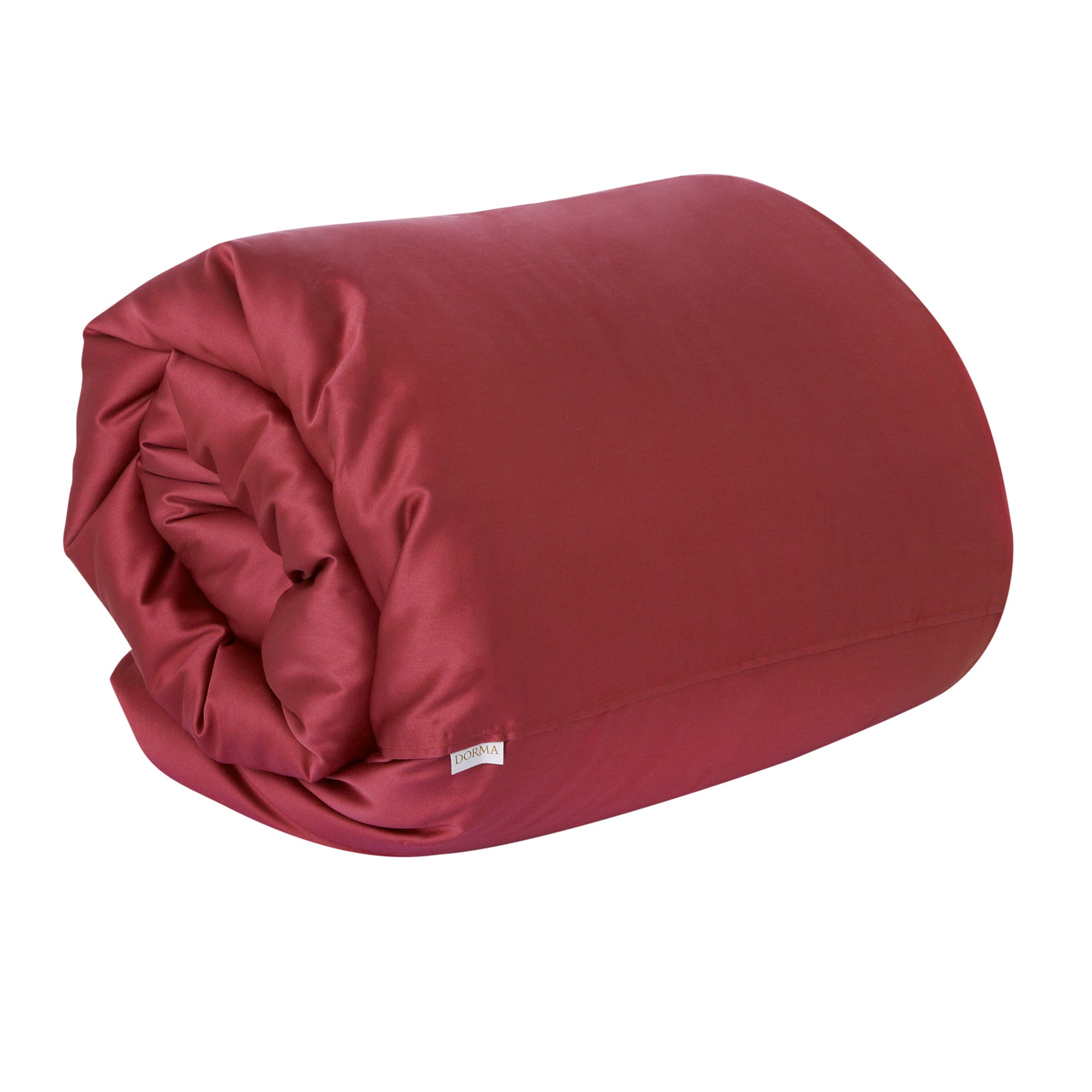 Dorma 350 Thread Count Red Plain Dye Collection Duvet Cover