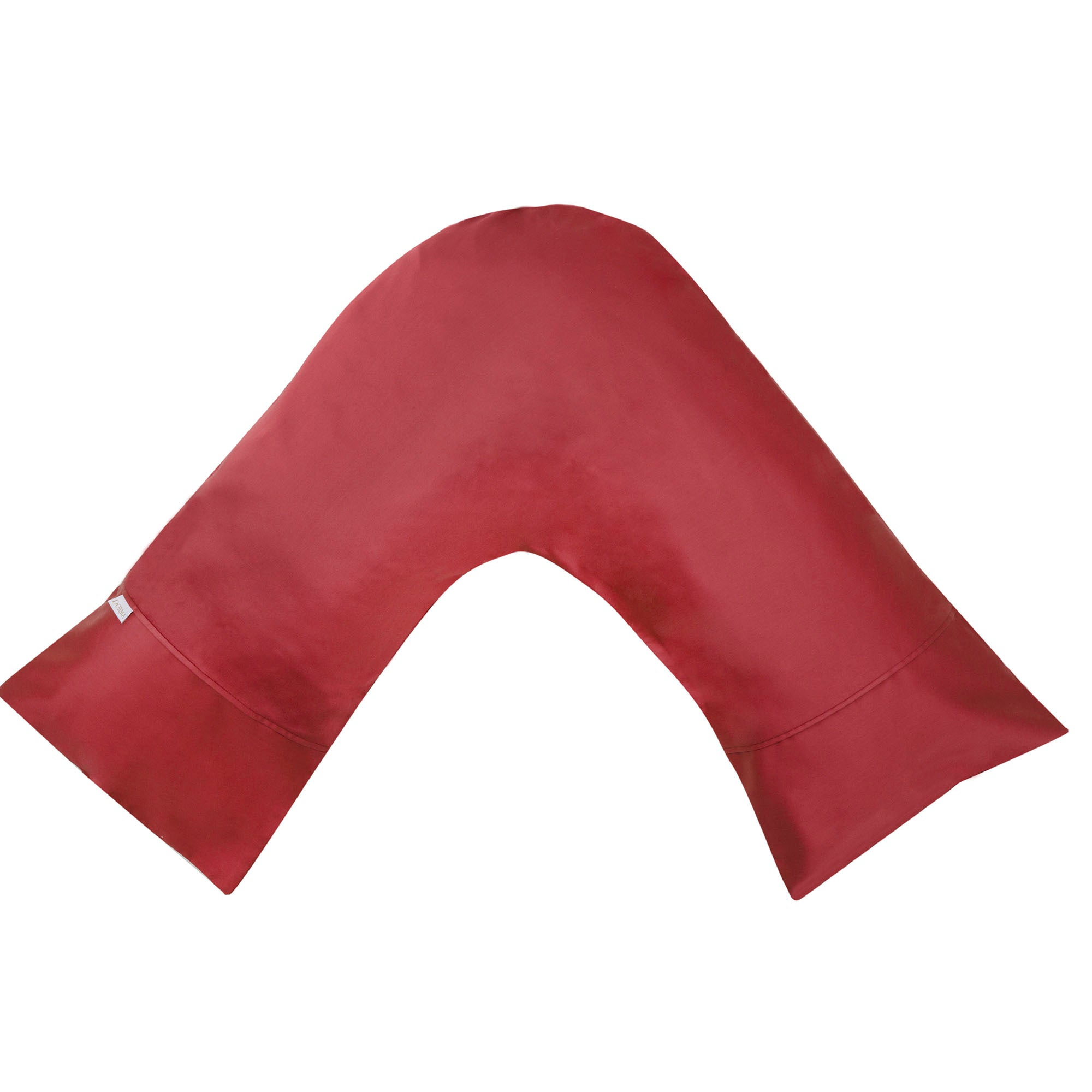 Dorma 350 Thread Count Red V Shaped Pillowcase