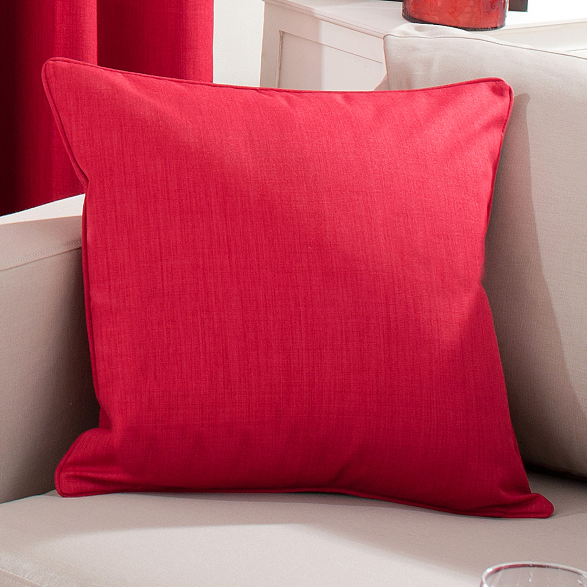 Red Solar Cushion Cover