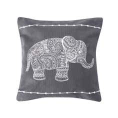 Grey Elephant Cushion