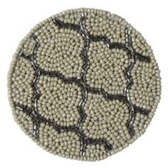 Pack of 4 Cream Fretwork Beaded Coasters