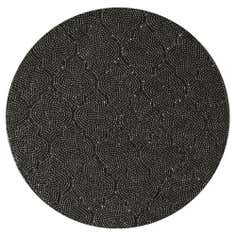 Silver Beaded Round Placemat
