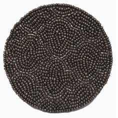 Pack of 4 Silver Fretwork Beaded Round Coasters