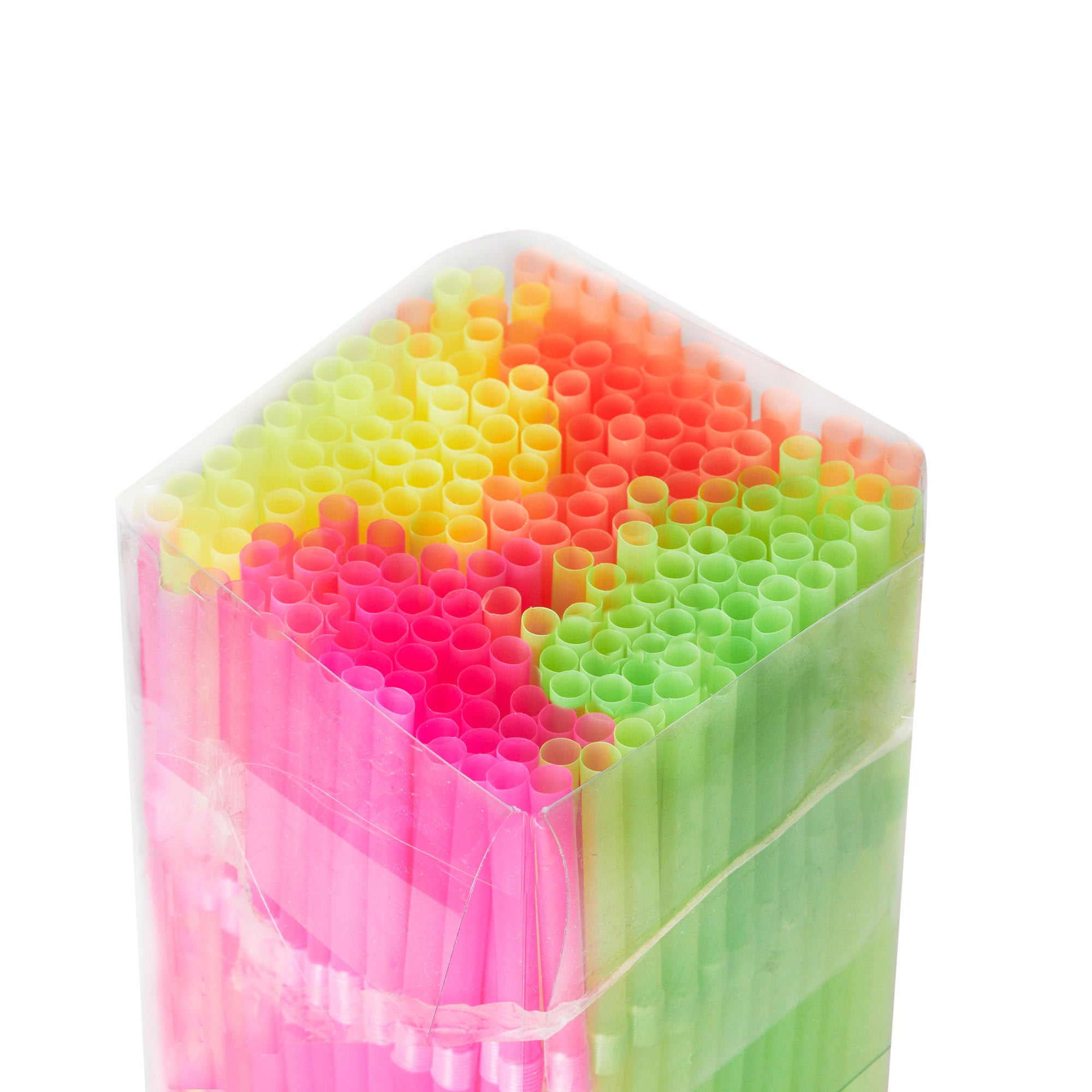 Pack of 200 Neon Straws