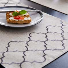 Fretwork Linen Effect Placemat