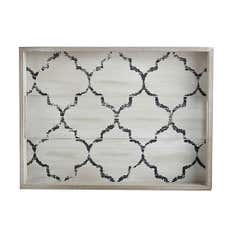 Fretwork Large Wooden Tray